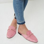 http://www.riverisland.com/women/shoes--boots/shoes/pink-chain-backless-loafers-697032