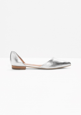 pointy-silver-flats
