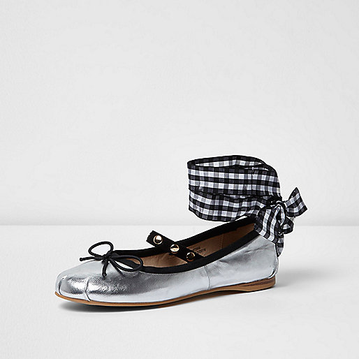 http://www.riverisland.com/women/shoes--boots/shoes/silver-ankle-ribbon-ballet-flats-697566