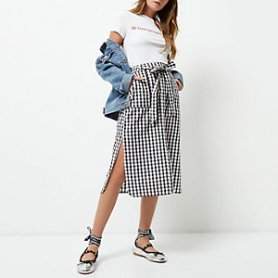 http://www.riverisland.com/women/skirts/midi-skirts/black-gingham-button-through-midi-skirt-700067