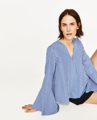 http://www.zara.com/uk/en/woman/tops/view-all/gingham-top-with-belled-sleeves-c719021p4357520.html