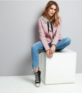 pink-leather-look-jacket