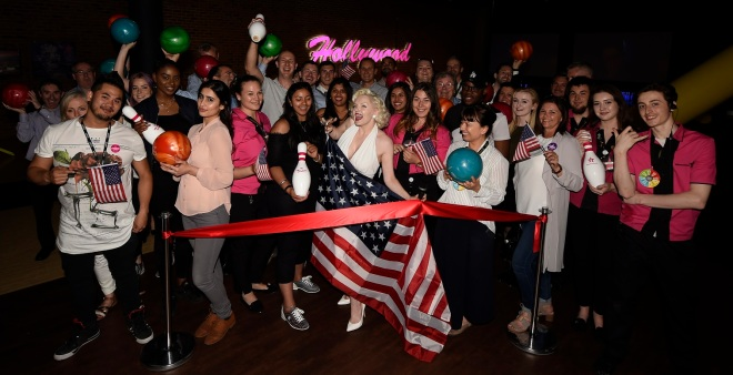 Marilyn celebrates the 4th of July at the VIP launch of Hollywood Bowl @ The O2
